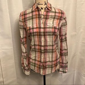 Aeropostale plaid Button-up Top